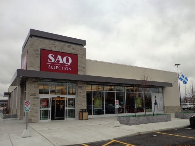 Plusieurs commerces du type SAQ